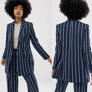 ASOS Design Regatta Stripe Suit Blazer 2 #4712